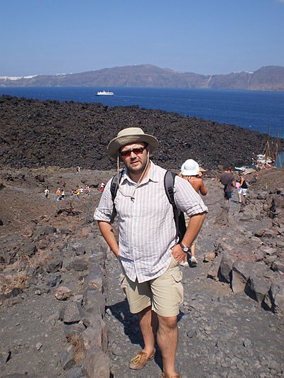 Blisko wulkanu Palea Kameni, Santorini