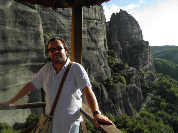 Widok z klasztoru św. Mikołaja, Meteory, Tesalia