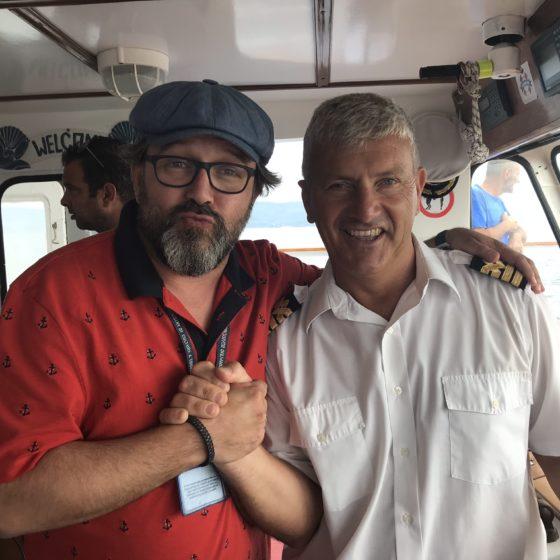 W drodze na wyspę Skiathos z kapitanem Kostasem